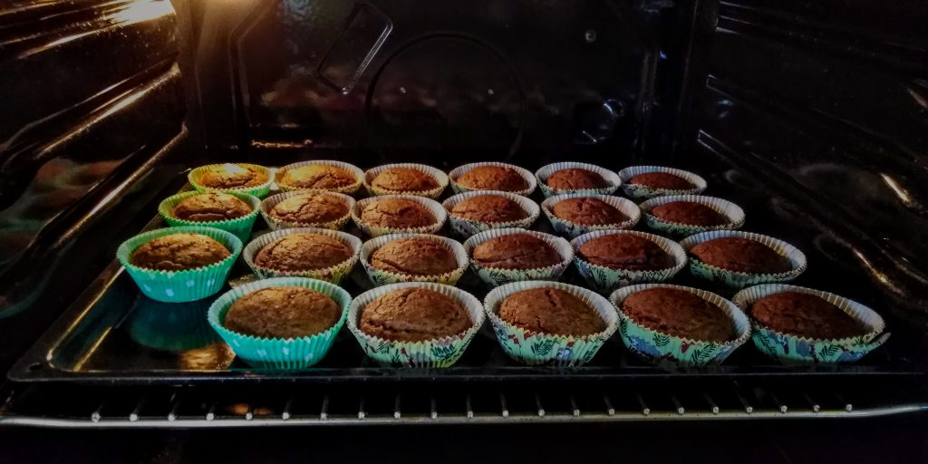 Gluten free vegan apple muffins with buckwheat flour and chia seeds (you will make them more than once)